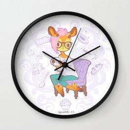 La gacela marcela tea Wall Clock