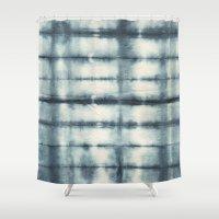 indigo Shower Curtains featuring Indigo by Nicole Vertina