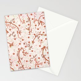 Peppermint Candy Paw Prints Stationery Cards