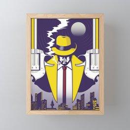 Night Smoke Framed Mini Art Print