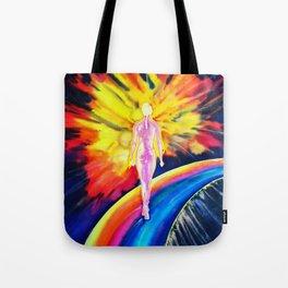 Dancing on the rainbow Tote Bag