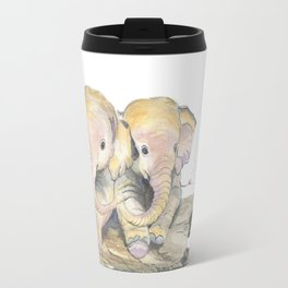 Happy Little Elephants Travel Mug