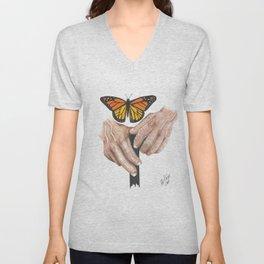 Monarch Butterfly 2 Unisex V-Neck