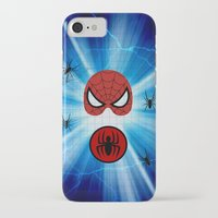 spider man iPhone & iPod Cases featuring Spider Man by haroulita