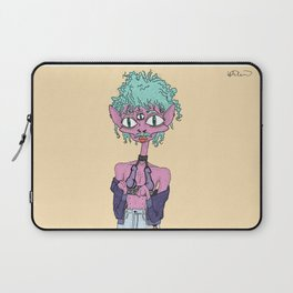 The Radioactive Hairless Cat Just Looking to Chill and Flirt Laptop Sleeve