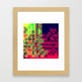 Pixel Galaxy 002 Framed Art Print
