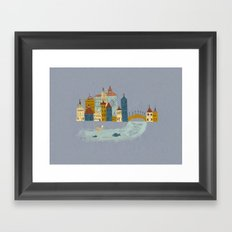 Small Village Framed Art Print