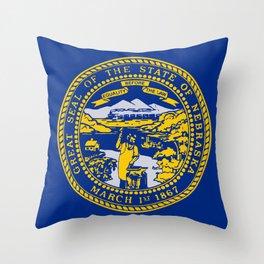 Nebraska State Flag Throw Pillow