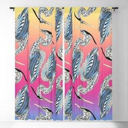 Great Blue Heron Pattern Blackout Curtain