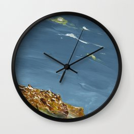 Rocks in blue Wall Clock