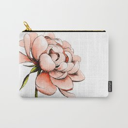 Coral Pink Peony Carry-All Pouch