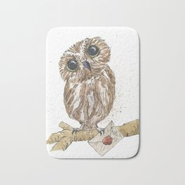 Owl Letter For You Bath Mat