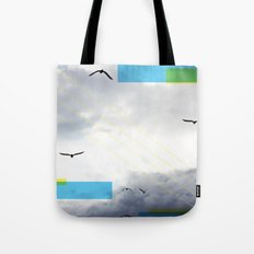 Birds and Lines Tote Bag