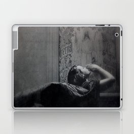 Slytherin Inspired Gothic Dark Angel Black and White Laptop & iPad Skin