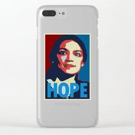 Alexandria Ocasio Cortez Clear iPhone Case