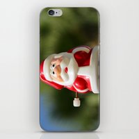 santa iPhone & iPod Skins featuring Santa by Gal Ashkenazi