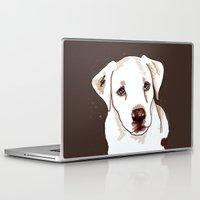 golden retriever Laptop & iPad Skins featuring Golden retriever by Pendientera