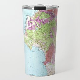 Monterey, CA from 1947 Vintage Map - High Quality Travel Mug