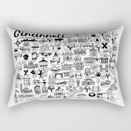 Cincinnati Ohio Map Rectangular Pillow