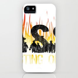 Funny Firefighter Fireman Gift All About Ass Busting Ours  iPhone Case