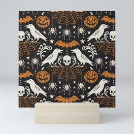 All Hallows' Eve - Black Orange Halloween Mini Art Print