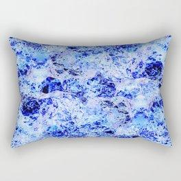 Alien Water - Abstract, crazy, textured, blue design Rectangular Pillow