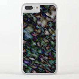 Dark Color Mania Clear iPhone Case