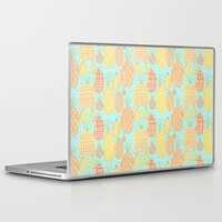 pineapples Laptop & iPad Skins featuring Pineapples by stephstilwell