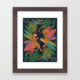 Jungle Cats - Roaring Tigers Framed Art Print