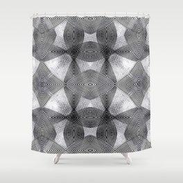 Concentric Trance Overlap- F.Oui! + Quelquefois photography Shower Curtain