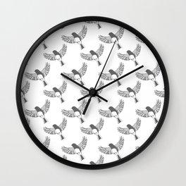 Dark-Eyed Junco pattern Wall Clock