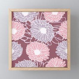 Dahlia Flowers Framed Mini Art Print