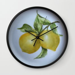 Lemon Botanical Wall Clock