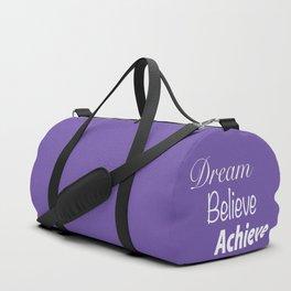 Dream Believe Achieve Ultra Violet Duffle Bag