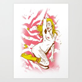 Marilyn Dirt Art Print