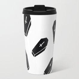 Black Dragon Coffin Design Travel Mug