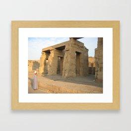 Guard at Karnak Temples in Karnak, Egypt  (2005) Framed Art Print