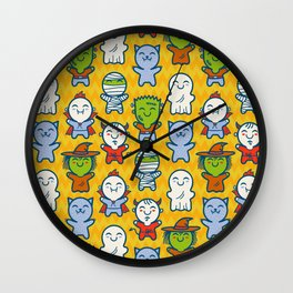 Halloween monsters Wall Clock