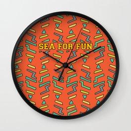 Sea for fun (red) Wall Clock