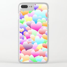 Bubble Hearts Light Clear iPhone Case