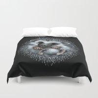 hedgehog Duvet Covers featuring hedgehog by Kristina Gufo