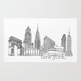 NYC Landmarks by the Downtown Doodler Rug