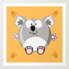 Koala bear from the circle series Art Print