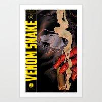 Venom Snake Art Print
