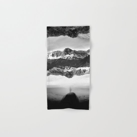 Black and White Ghost of Isolation Hand & Bath Towel