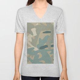 Camouflage military background Unisex V-Neck
