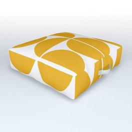 Mid Century Modern Geometric 04 Yellow Outdoor Floor Cushion