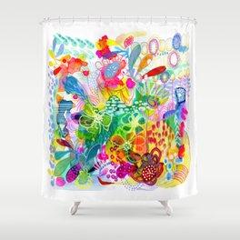 Painted Garden Shower Curtain