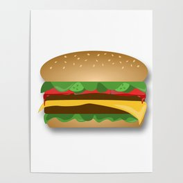 Yummy Cheeseburger Poster
