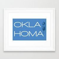 oklahoma Framed Art Prints featuring Oklahoma by Adrienne DeWilde